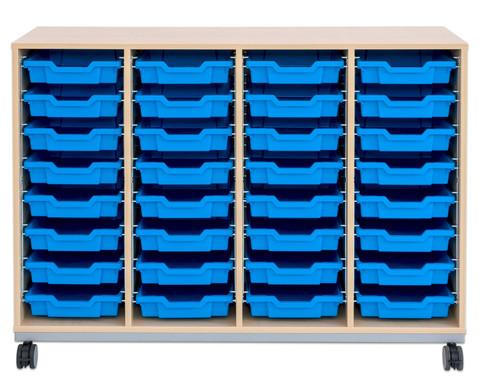 Flexeo Regal Pro mit Stahlrahmen 4 Reihen 32 Boxen-12