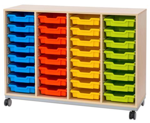 Flexeo Regal Pro mit Stahlrahmen 4 Reihen 32 Boxen-13