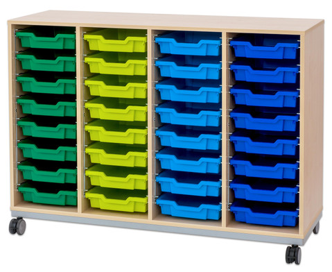 Flexeo Regal Pro mit Stahlrahmen 4 Reihen 32 Boxen-14