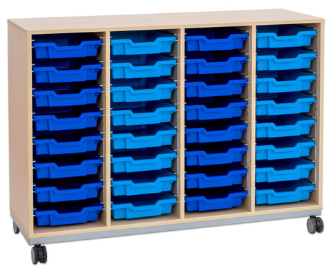 Flexeo Regal Pro mit Stahlrahmen 4 Reihen 32 Boxen-15