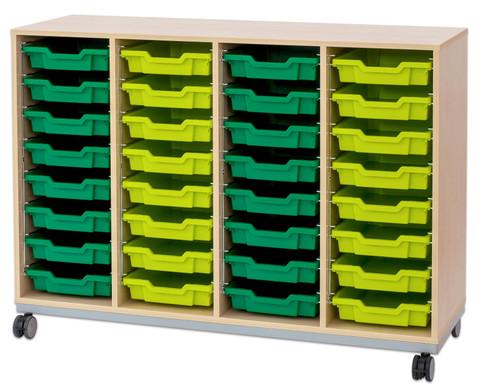 Flexeo Regal Pro mit Stahlrahmen 4 Reihen 32 Boxen-16