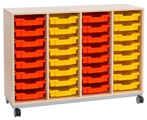 Flexeo Regal Pro mit Stahlrahmen 4 Reihen 32 Boxen-17