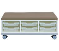 Flexeo Regal Pro mit Stahlrahmen, 3 Reihen, 6 kleine Boxen, HxBxT: 36,5 x 108,5 x 48 cm