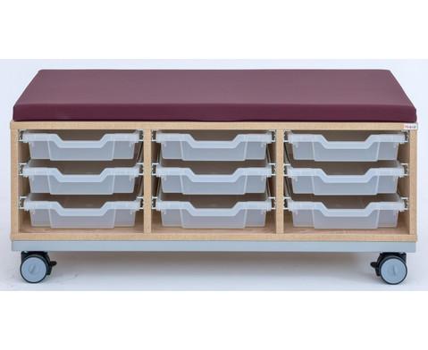 Flexeo Regal Pro mit Stahlrahmen 3 Reihen 9 kleine Boxen HxBxT 429 x 1085 x 48 cm-3