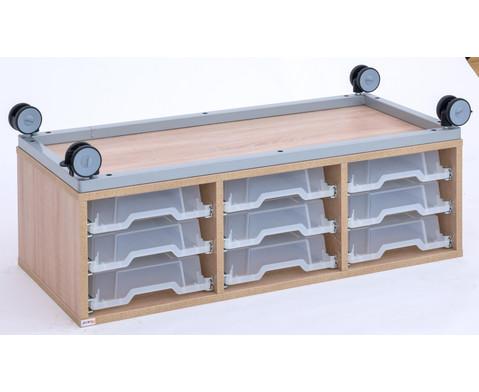 Flexeo Regal Pro mit Stahlrahmen 3 Reihen 9 kleine Boxen HxBxT 429 x 1085 x 48 cm-5