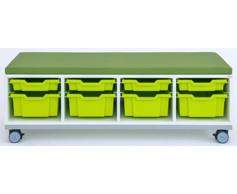 Flexeo Regal Pro mit Stahlrahmen 4 Reihen 4 kleine-4 grosse Boxen HxBxT 429 x 1439 x 48cm-2