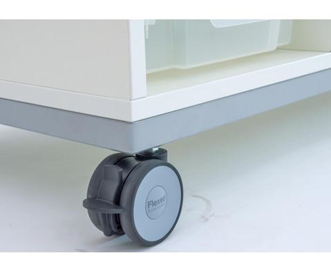 Flexeo Regal Pro mit Stahlrahmen 4 Reihen 4 kleine-4 grosse Boxen HxBxT 429 x 1439 x 48cm-6