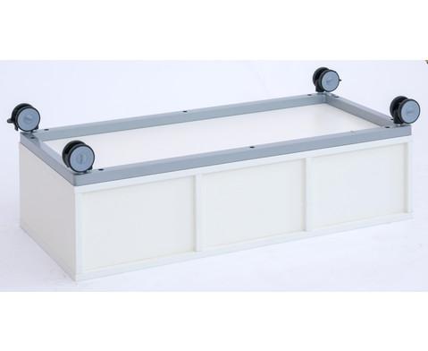 Flexeo Regal Pro mit Stahlrahmen 4 Reihen 4 kleine-4 grosse Boxen HxBxT 429 x 1439 x 48cm-7