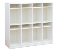 Flexeo Schulranzregal PRO, 4 Reihen, 8 Fachböden HxBxT: 132,2 x 143,9 x 48 cm