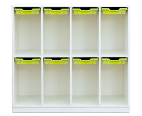 Flexeo Schulranzenregal PRO 4 Reihen 8 kleine Boxen HxBxT 1322 x 1439 x 48 cm-2