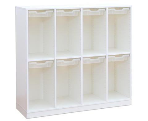 Flexeo Schulranzenregal PRO 4 Reihen 8 kleine Boxen HxBxT 1322 x 1439 x 48 cm-6