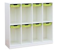 Flexeo Schulranzregal PRO, 4 Reihen 8 kleine Boxen HxBxT: 132,2 x 143,9 x 48 cm