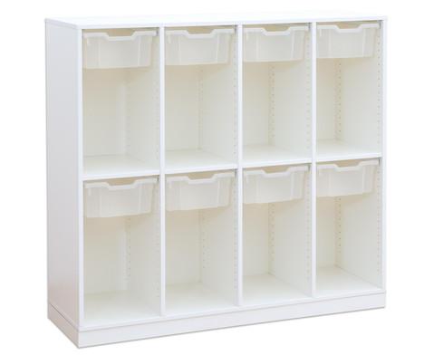 Flexeo Schulranzenregal PRO 4 Reihen 8 Boxen Gr M