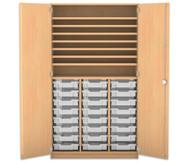 Flexeo Bastelschrank, 24 kleine Boxen, 7 Fachböden, HxBxT: 190 x 108,1 x 60 cm