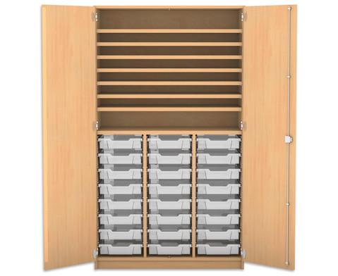 Flexeo Bastelschrank mit 24 kleinen Boxen