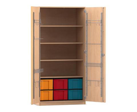 Flexeo Musikschrank 6 grosse Boxen H x B x T 190 x 944 x 60 cm