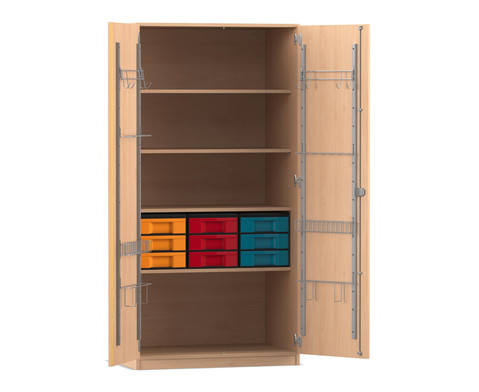 Flexeo Musikschrank 9 kleinen Boxen HxBxT 190 x 944 x 60 cm
