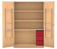 Flexeo Musikschrank, 2 kleinen und 2 große Boxen HxBxT: 190 x 126,4 x 60 cm