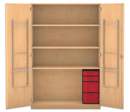 Flexeo Musikschrank mit 4 Kunstoffboxen