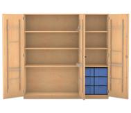 Flexeo Musikschrank, 2 kleinen und 2 große Boxen HxBxT: 190 x 190,5 x 60 cm