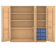 Flexeo Musikschrank, 6 große Boxen HxBxT: 190 x 190,5 x 60 cm