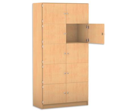 Flexeo Schliessfachschrank 10 geschlossene Faecher HxB 190 x 944 cm-1