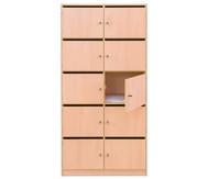 Flexeo Schließfachschrank, 10 Fächer mit Brief- schlitzen, HxB: 190 x 94,4 cm