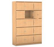 Flexeo Schließfachschrank 15 Fächer mit Brief- schlitzen, HxB: 190 x 142,5 cm
