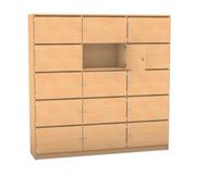 Flexeo Schließfachschrank 15 Fächer mit Brief- schlitzen, HxB: 190 x 190,5 cm