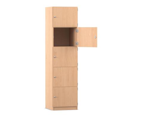 Flexeo Schliessfachschrank 5 geschlossene Faecher HxB 190 x 481 cm