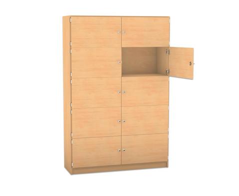Flexeo Schliessfachschrank 10 geschlossene Faecher HxB 190 x 1264 cm