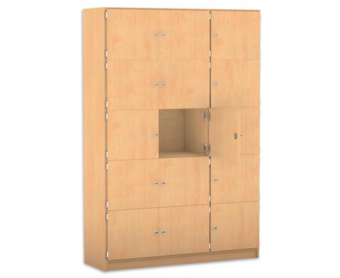 Flexeo Schliessfachschrank 15 geschlossene Faecher HxB 190 x 1425 cm