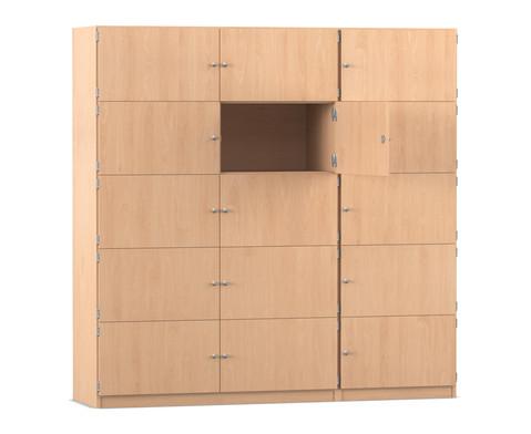 Flexeo Schliessfachschrank 15 geschlossene Faecher HxB 190 x 1905 cm