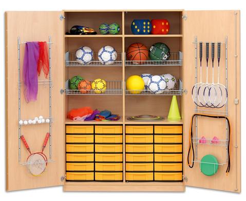 Flexeo Schubladen-Sportschrank mit Gitterkoerben und 24 kleinen Boxen-2
