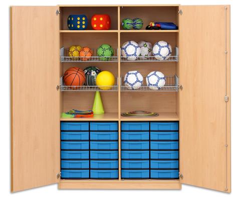 Flexeo Schubladen-Sportschrank mit 24 kleinen Boxen-2