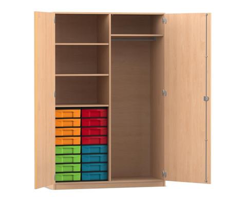 Flexeo Schubladen-Garderobenschrank mit 16 kleinen Boxen