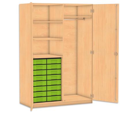 Flexeo Schubladen-Garderobenschrank mit 16 kleinen Boxen-1