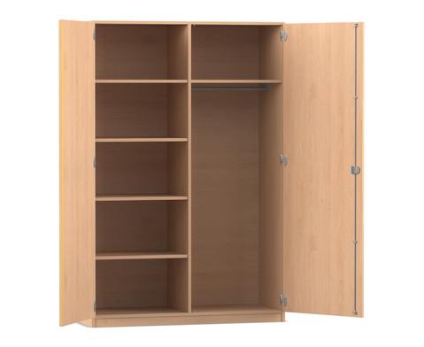 Flexeo Garderobenschrank mit einer Garderobe und 5 Faechern