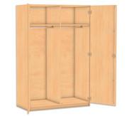 Flexeo Garderobenschrank mit Mittelwand, Garderobe rechts und links, HxB: 190 x 126,4 cm