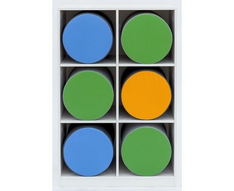 Flexeo Polsterhockerregal mittelhoch HxB 1439 x 944 cm-3
