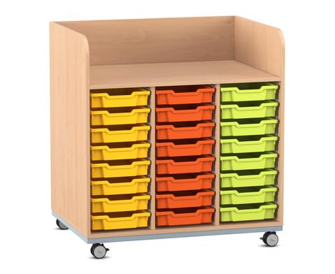 Flexeo Wickelkommode mit 24 kleinen Boxen