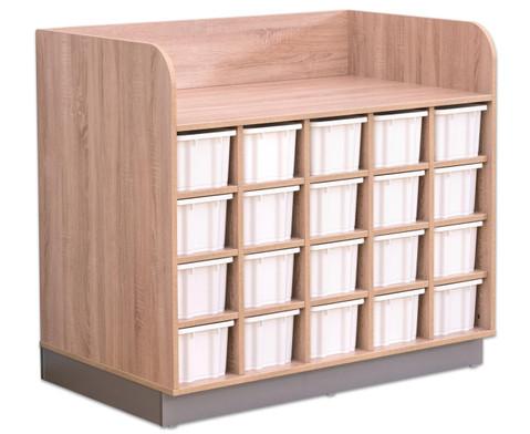 Flexeo Wickelkommode mit 20 grossen Boxen-2