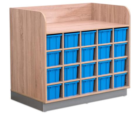 Flexeo Wickelkommode mit 20 grossen Boxen-3
