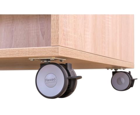 Flexeo Buecherwagen oben 1 Ablagefach beidseitig  je 1 Fachboden und 2 Schraegablagen-6