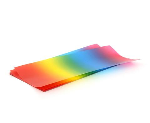 Regenbogen 25 Blatt transparenter Regenbogen