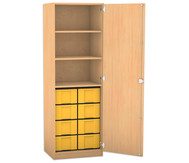 Flexeo Hochschrank mit 1 Drehtür und 3 Fachböden 8 große Boxen, HxB: 190 x 64,1 cm