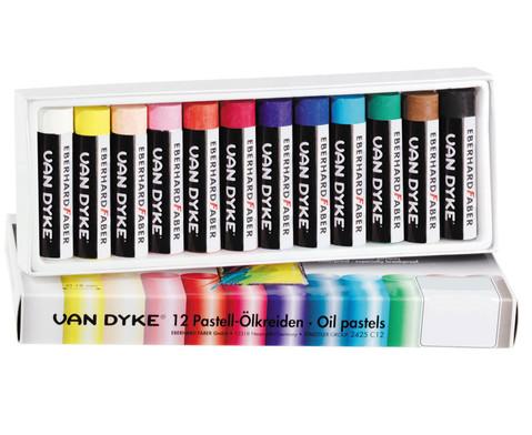 Pastell-OElkreiden Schachtel mit 12 Farben 18 mm -1
