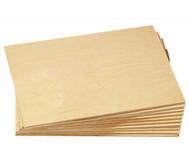 Sperrholzplatten, 10 St., 21 x 30 cm