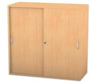 Flexeo Aufsatzschrank, Schiebetüren, 2 Fachböden, ohne Mittelwand, HxB: 90,9 x 94,4 cm