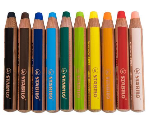 STABILO Woody-Farbstifte 10 Farben-2